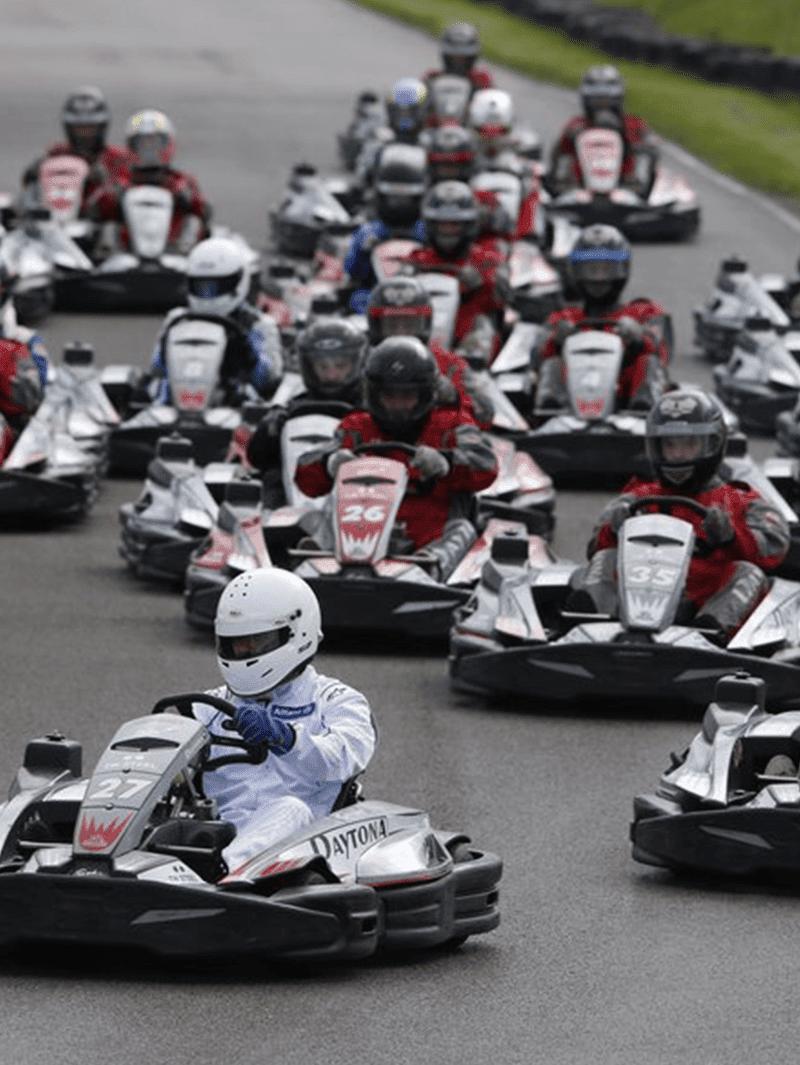 Damon hill go karting challenge